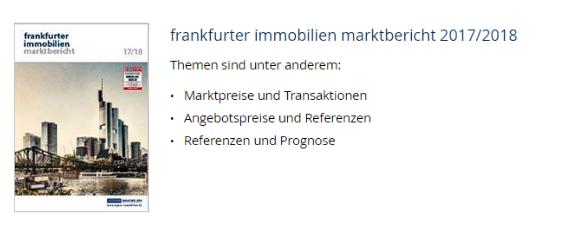 Abbildung Immobilienmarktbericht Frankfurt 2017
